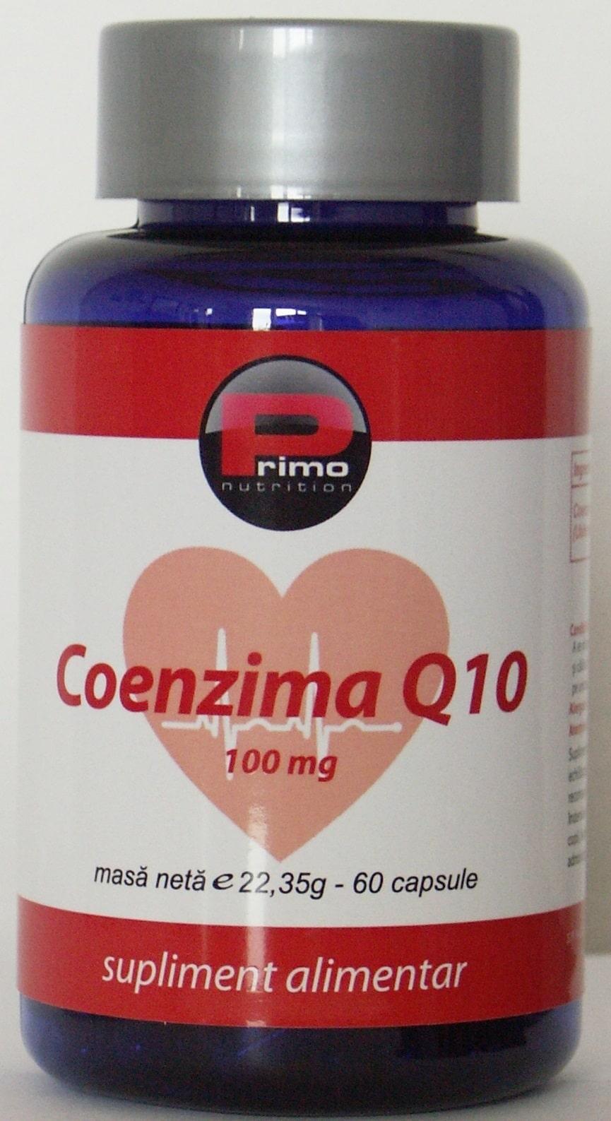 Coenzima Q10 KanekaQ10™, 100 mg, 60 capsule, Primo Nutrition
