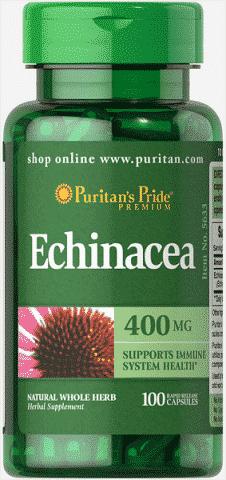 Echinacea (Echinaceea), 400 mg, 100 capsule - Puritan's Pride
