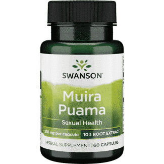 Extract de Muira Puama 10:1 (Ptychopetalum olacoides)-impotenta/disfunctie erectila, 250 mg/capsula, 60 capsule - Swanson