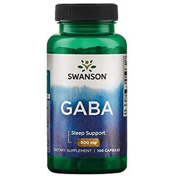 GABA (Acid Gamma-Aminobutiric), 500 mg, 100 capsule - Swanson