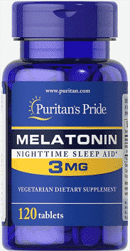 Melatonina, 3 mg, 120 tablete - Puritan's Pride