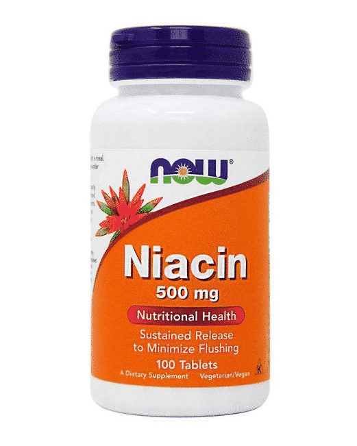 Niacina, 500 mg, eliberare lenta,100 tablete, Now Foods