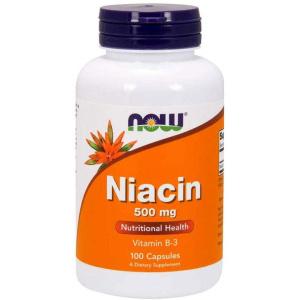 Niacina (Vitamina B-3), 500 mg.