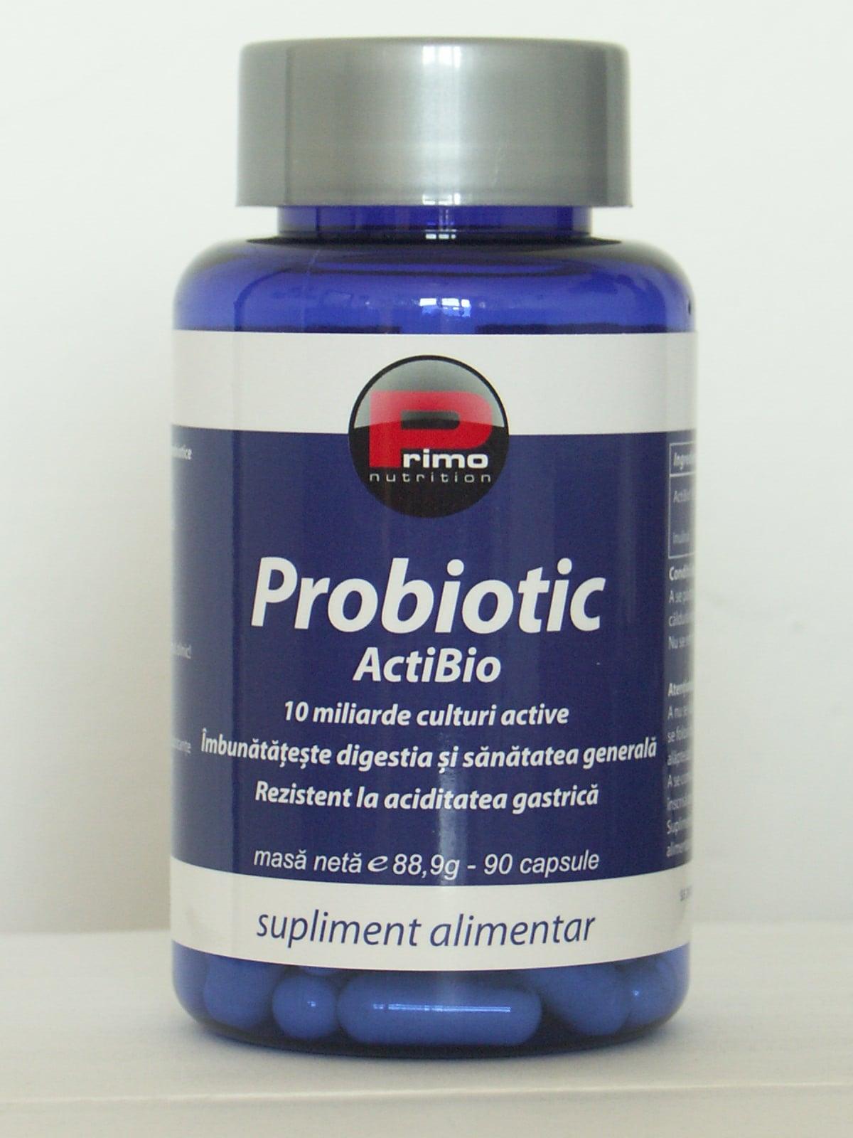 Probiotic ActiBio (probiotice naturale), 10 miliarde, 90 cps, Primo Nutrition