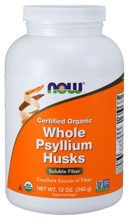 Tarate de Psyllium (psilium), 340 g, Now Foods