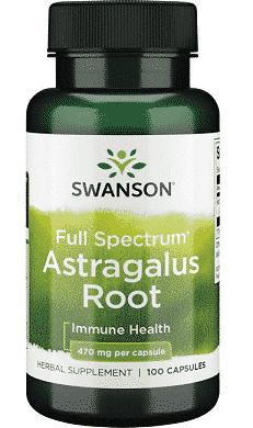 Radacina de Astragalus, 470 mg, 100 capsule- Swanson