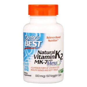 Vitamina K2 – Mena Q7 – Naturala, 100 mcg, 60 gelule – Doctor's Best