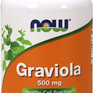 Graviola (Annona Muricata, Soursop) 500 mg, 100 capsule – NOW