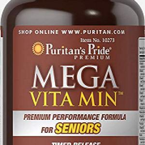 Mega Vitamine si Minerale cu Eliberare Prelungita, 250 tablete – Puritan's Pride