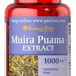 Muira Puama (Ptychopetalum olacoides), 1000 mg, 60 tablete – Puritan's Pride