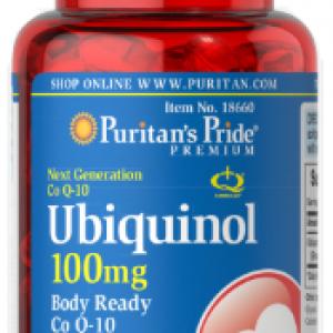 Ubiquinol KanekaQH™, 100 mg, 60 capsule – Puritan's pride