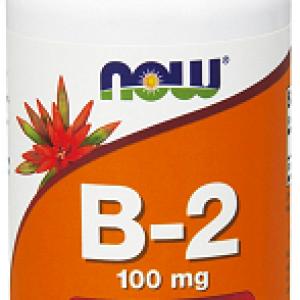 Riboflavina (Vitamina B2), 100 mg, 100 capsule – NOW