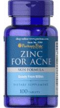 zinc pentru acnee tratament